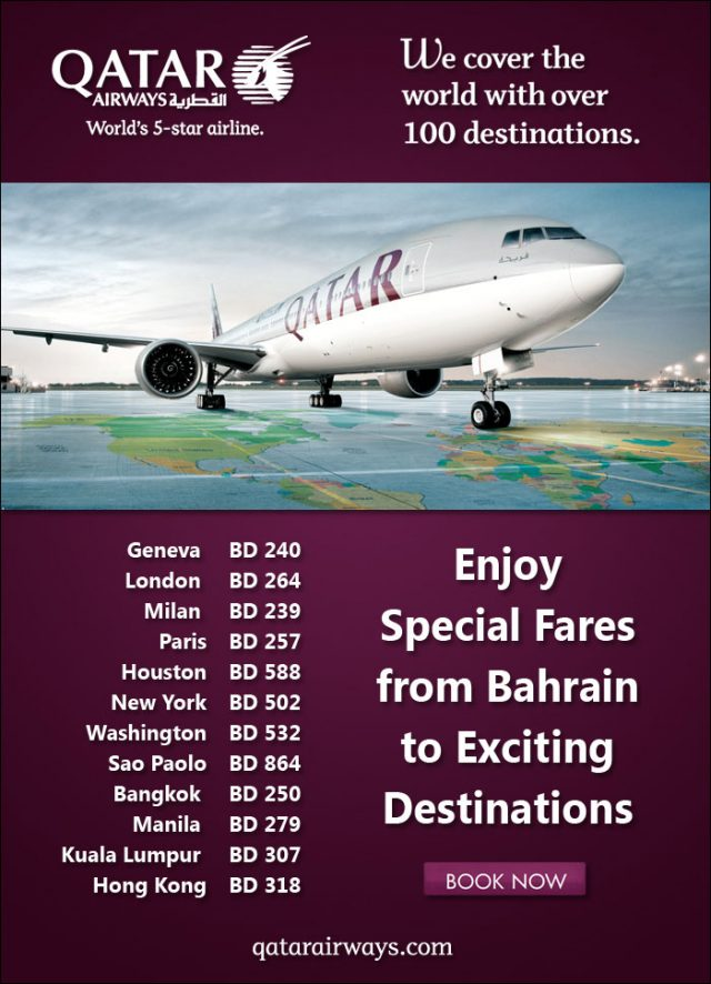 Qatar Airway's newletter offering low-cost flight to Indochina